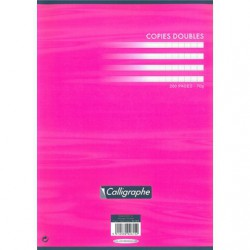 Copies doubles non perf. s/film Clairefontaine 210 x 297 / 200 pages Séyès