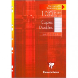 Copies doubles perforées s/étui Clairefontaine 210 x 297 / 100 pages Séyès