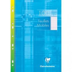 Feuillets mobiles s/étui Clairefontaine 210 x 297 / 100 pages Séyès
