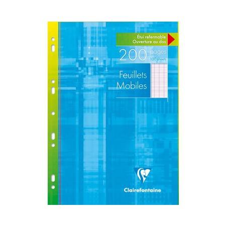 Feuillets mobiles s/étui Clairefontaine 210 x 297 / 200 pages Séyès