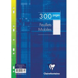 Feuillets mobiles Clairefontaine 210 x 297 / 300 pages 5x5 sous film