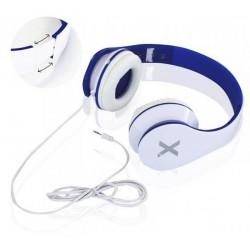 Casque écouteur avec Micro stéréo Urbain Aqprox / Blanc