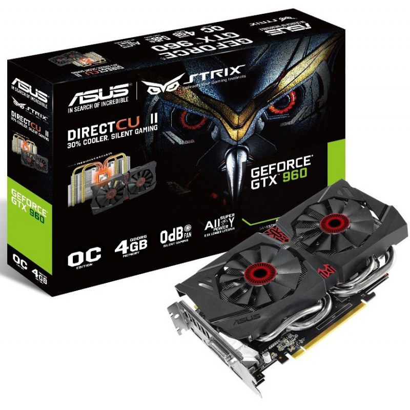 Carte graphique ASUS STRIX GTX960 OC / 4 Go