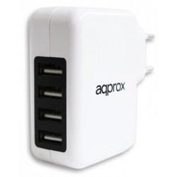 Chargeur universel 4 ports USB / Blanc