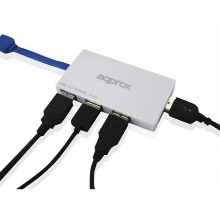 Hub aqprox de 4 Ports USB 3.0 / Blanc