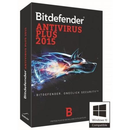 Bitdefender Antivirus Plus 2015 - 1 an / 3 Pcs