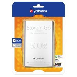 Disque Dur externe Verbatim Store'n' Go Ultra Slim USB 3.0 500 Go