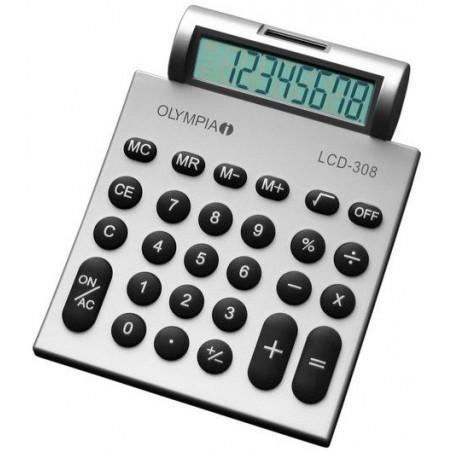 Calculatrice de bureau 8 chiffres Olympia LCD 308