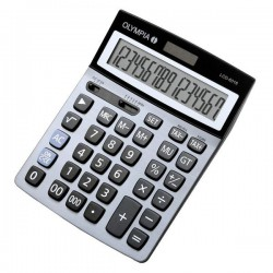 Calculatrice de bureau 16 chiffres Olympia LCD 6016