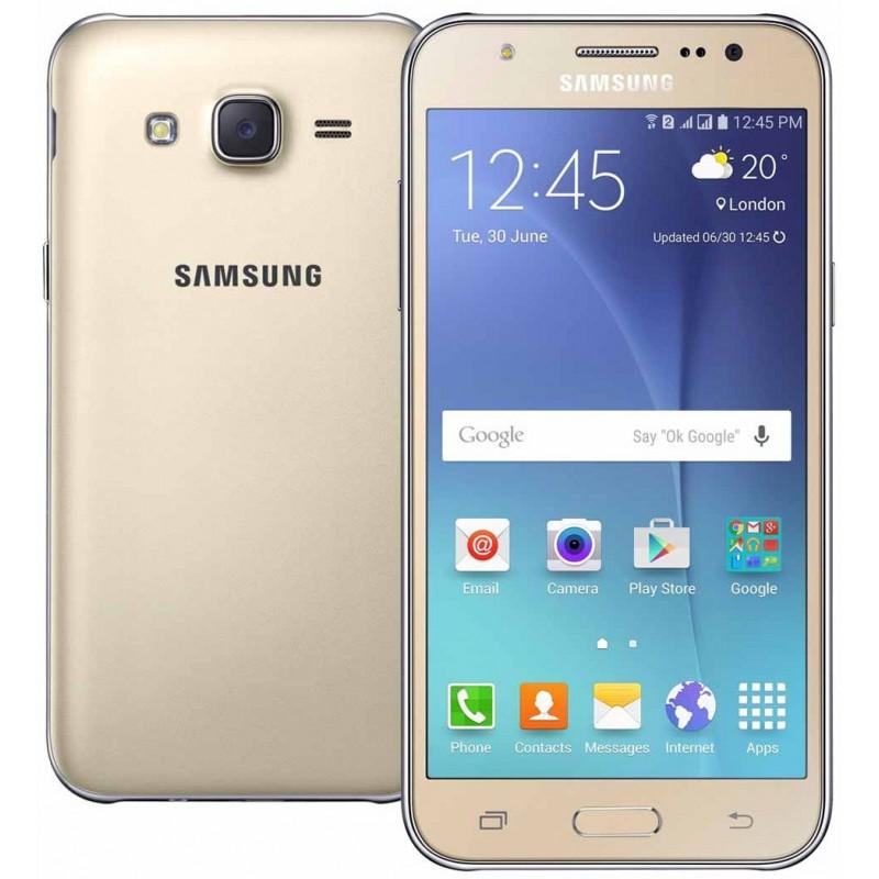 Téléphone Portable Samsung Galaxy J5 / 4G / Double SIM / Gold + Gratuité 40Dt + SIM Offerte