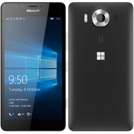 Téléphone Portable Microsoft Lumia 950 / Double SIM / Noir + 2 SIM Offertes