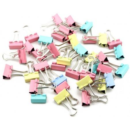 Boite de 48 mini pinces 25 mm / 4 couleurs
