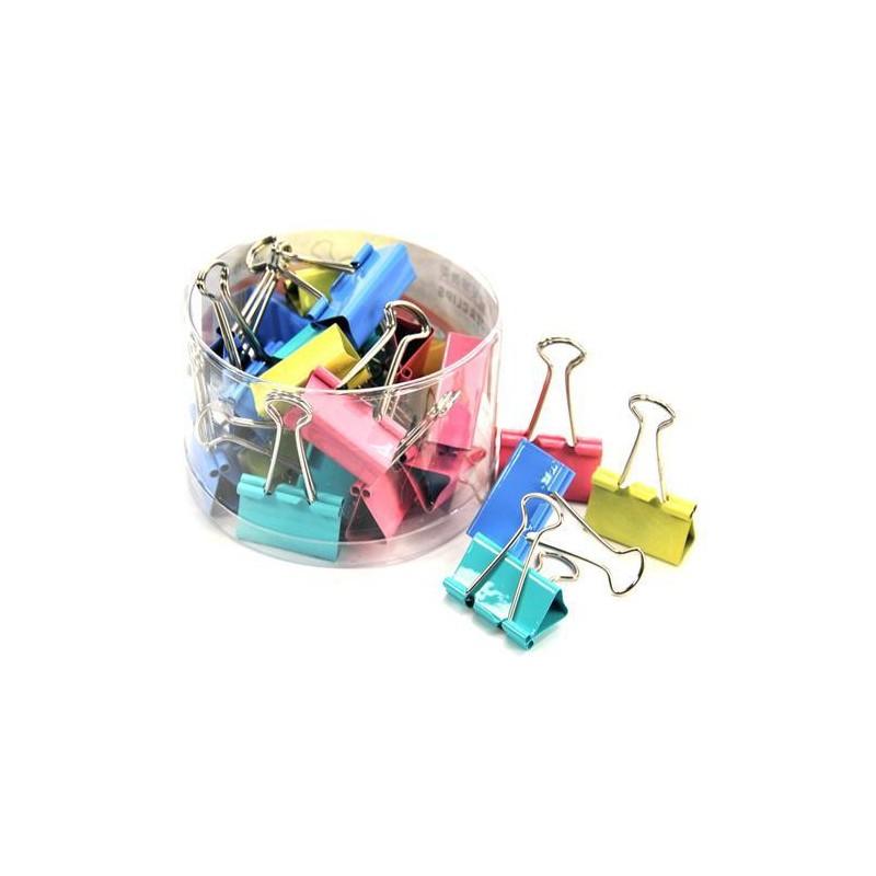 Boite de 40 mini pinces 19 mm / 4 couleurs