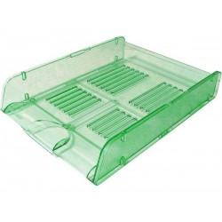 Corbeille à courrier HGE Cristal superposable A4 / Vert