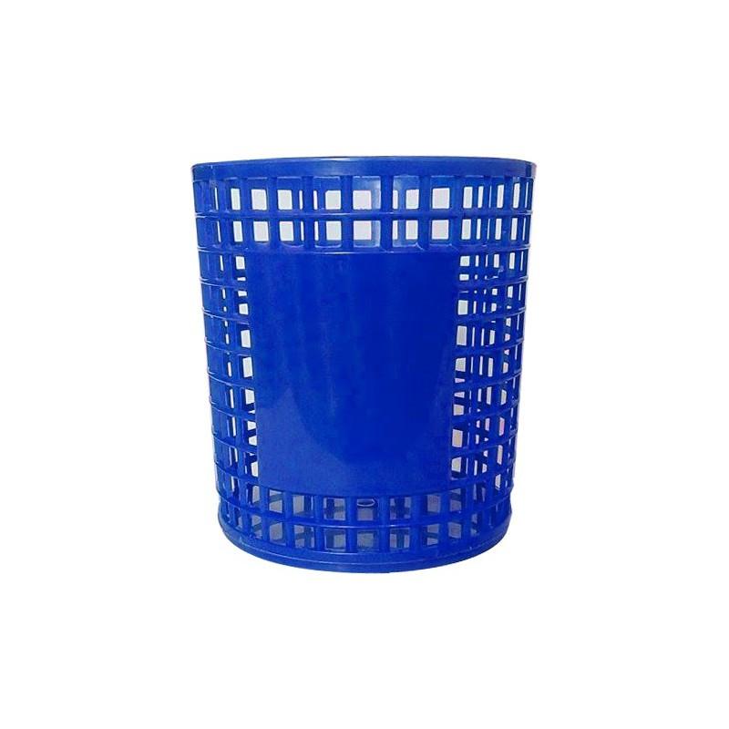 Porte Stylo Cylindre en plastique / Bleu