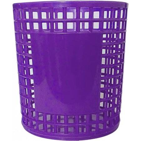 Porte Stylo Cylindre en plastique / Violet