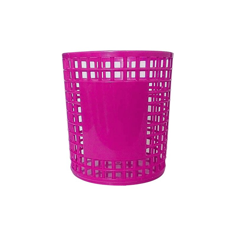 Porte Stylo Cylindre en plastique / Rose