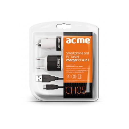 Kit chargeur Smartphone et Tablette 4 en 1 Acme CH05
