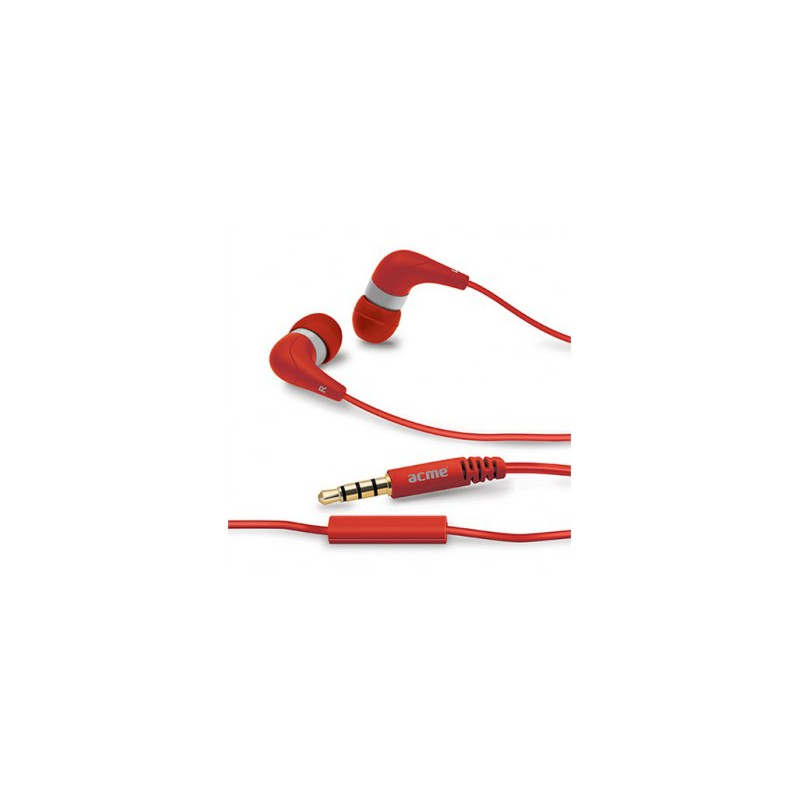 Ecouteurs avec micro ACME Groovy HE15R / Rouge