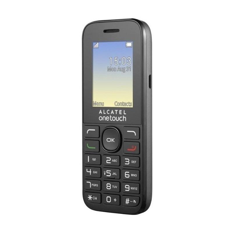 Téléphone Portable Alcatel 1016D Noir / Double SIM / Noir + SIM Offerte