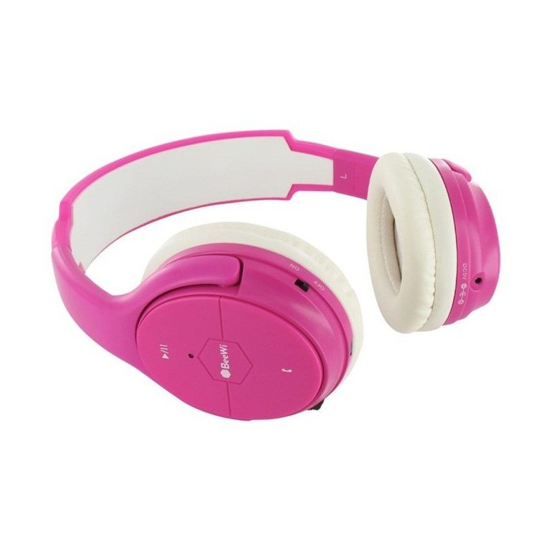 Casque BeeWi Bluetooth + Câble / Rose