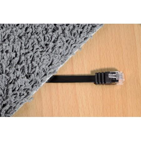 Câble réseau plat Hama CAT5 RJ45 Blindé UTP 5m Noir