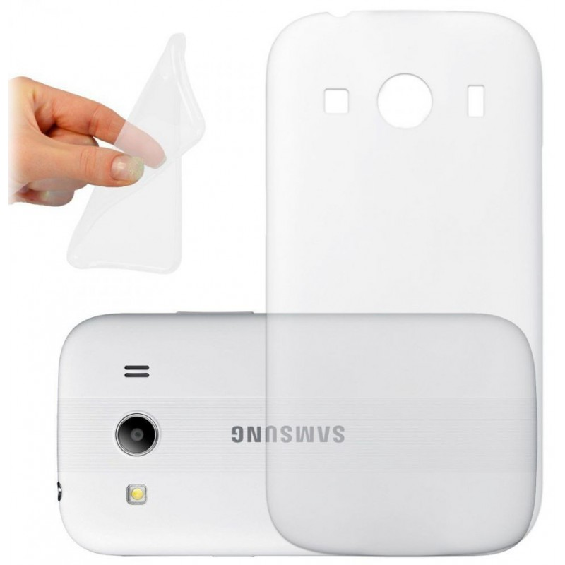 Coque en Silicone pour Samsung Galaxy Ace 4 Lite / Transparent