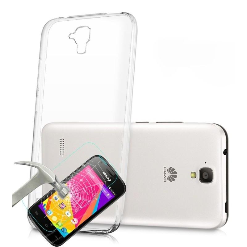 Etui en silicone + Film Anti-choc Smartek pour Huawei P8 Lite