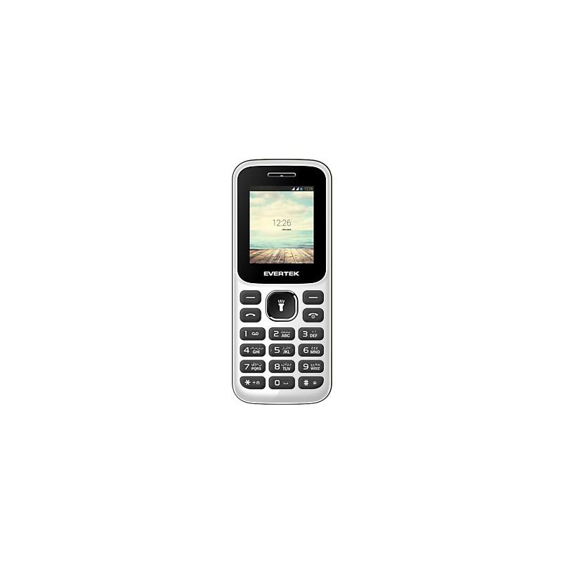 Téléphone Portable Evertek Neon / Double SIM / Blanc