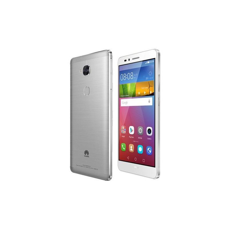 Téléphone Portable Huawei GR5 / 4G / Double SIM / Argent + SIM Offerte