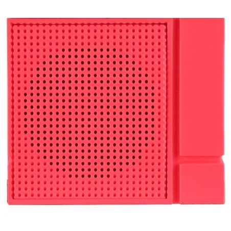 Haut Parleur Portable Bluetooth Cliptec 'Mini Color-Beat' / Rouge