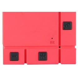Haut Parleur Portable Bluetooth Cliptec 'Mini Color-Beat' / Rouge