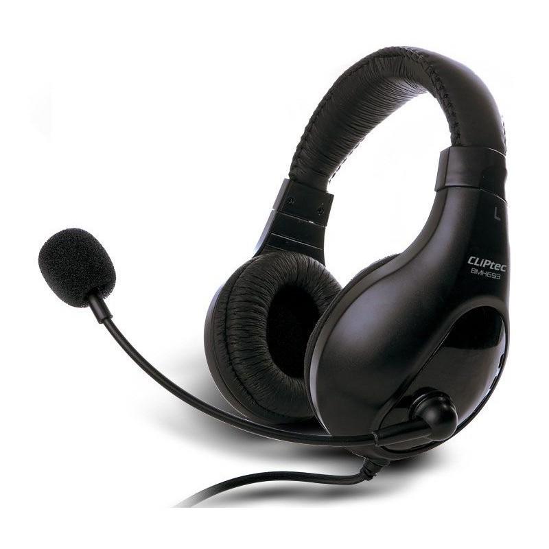 Casque stéréo Multimédia Cliptec WAVE-BEAT BMH693 / Noir