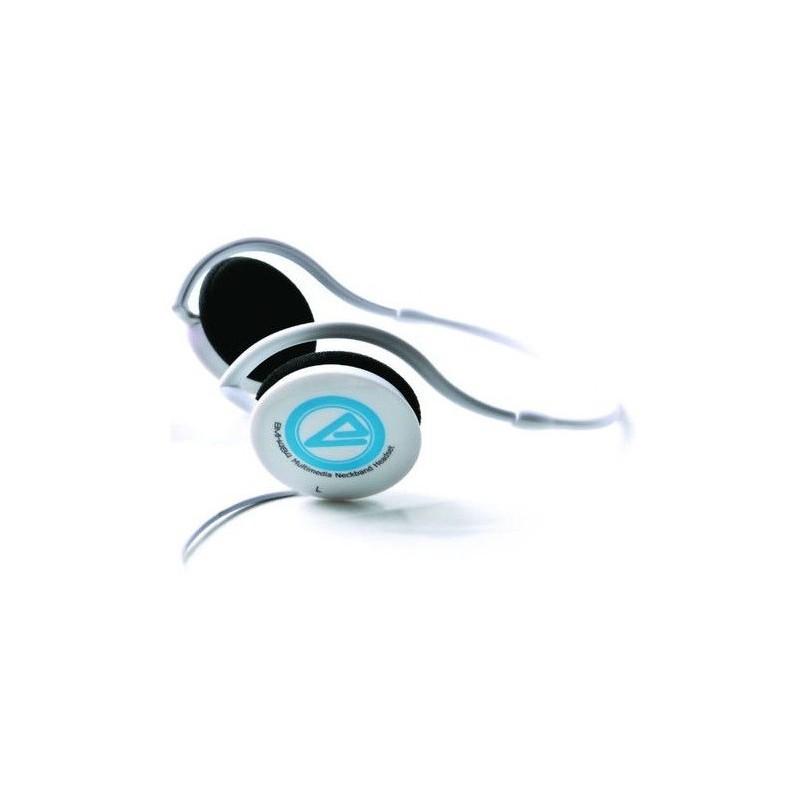 Casque stéréo Multimédia CLiPtec BMH484 / Blanc & Bleu