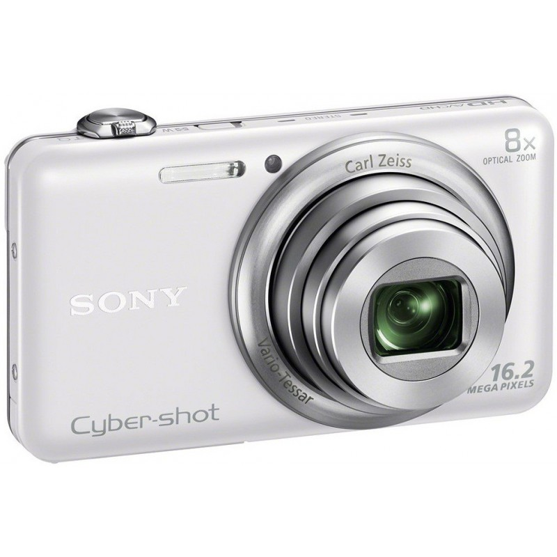 Appareil Photo Sony Cyber Shot WX80/ 16.2 MP / Blanc / Wifi