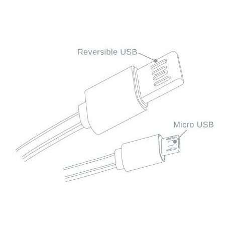Câble plat CLiPtec TITANIUM USB vers Micro-USB pour Smartphone / Rose
