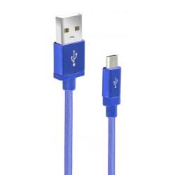 Câble CLiPtec JACKET-M2 USB vers Micro-USB pour smartphone / Bleu