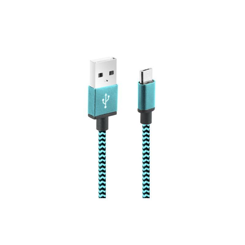 Câble CLiPtec JACKET-M3 USB vers Micro-USB pour smartphone / Bleu