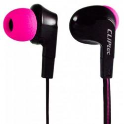 Ecouteur CLiPtec NEON-ROCK BME737 avec microphone / Noir & Rose