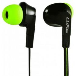 Ecouteur CLiPtec NEON-ROCK BME737 avec microphone / Noir & Vert