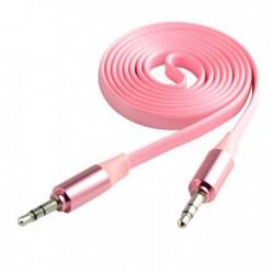 Câble Jack Mâle/Mâle Plat CLiPtec METALLIC / Rose