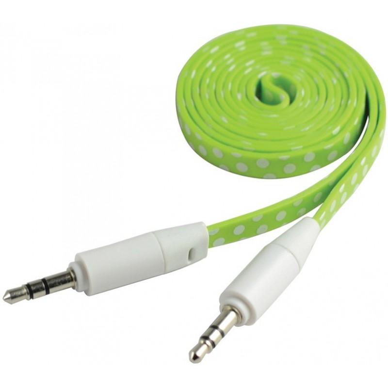 Câble Jack Mâle/Mâle Plat CLiPtec YOUNG / Vert