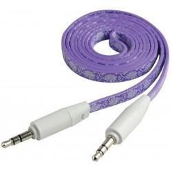 Câble Jack Mâle/Mâle Plat CLiPtec YOUNG / Violet