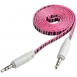 Câble Jack Mâle/Mâle Plat CLiPtec YOUNG / Rose