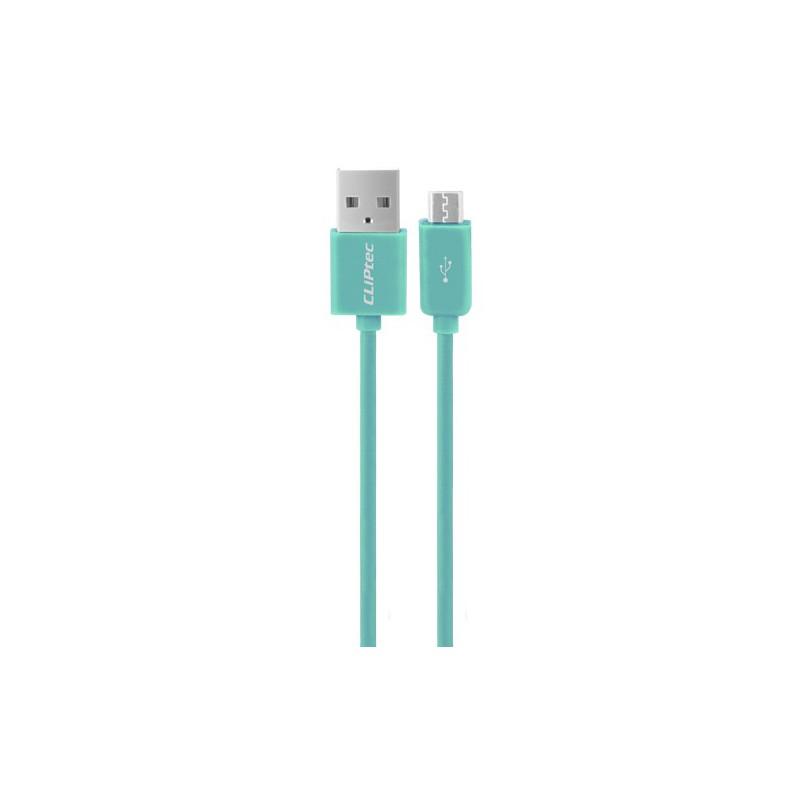 Câble CLiPtec RAINBOW USB vers Micro-USB pour smartphone / Vert
