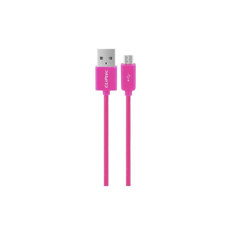 Câble CLiPtec RAINBOW USB vers Micro-USB pour smartphone / Rose