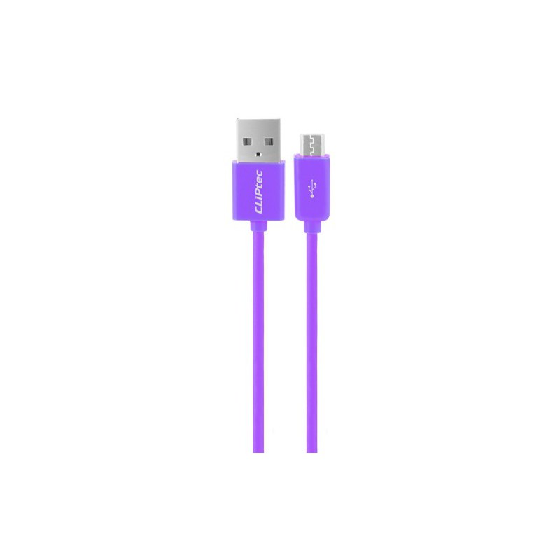 Câble CLiPtec RAINBOW USB vers Micro-USB pour smartphone / Violet