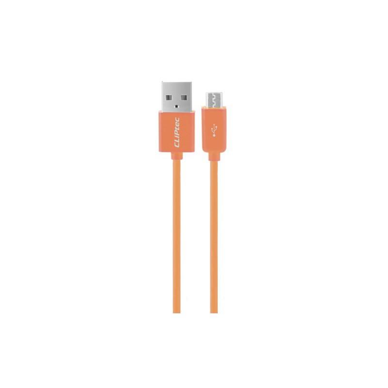 Câble CLiPtec RAINBOW USB vers Micro-USB pour smartphone / Orange