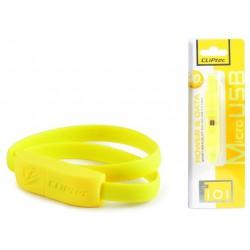 Câble CLiPtec BRACELET USB vers Micro-USB 40 cm / Jaune