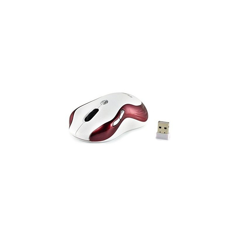 Souris optique  sans fil Cliptec Xilent RZS847 / Blanc & Rouge